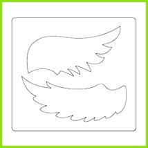 Bildergebnis für vorlagen für engelsflügel schablonen Basteln Mit Schere Engel Basteln Deko Herbst Weihnachten