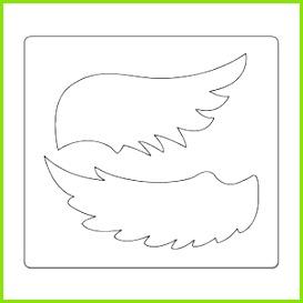Bildergebnis für vorlagen für engelsflügel schablonen