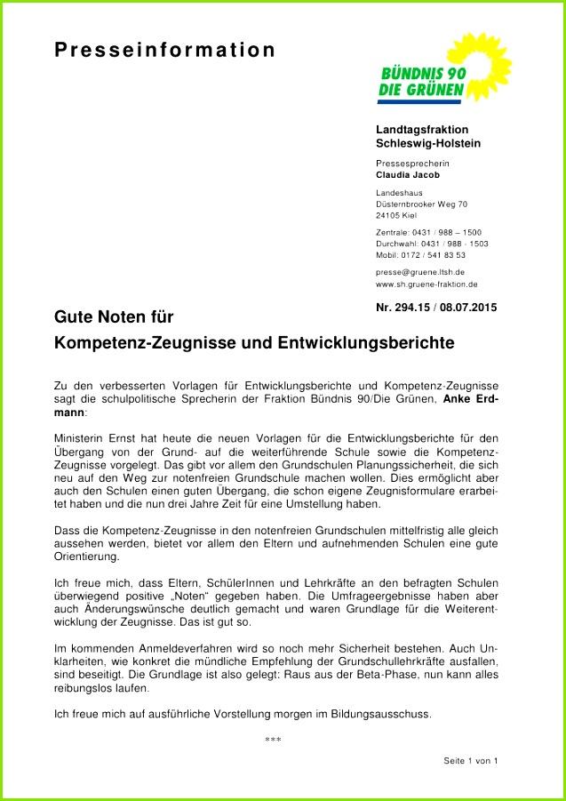 Landtag SH Anke Erdmann zu den verbesserten Vorlagen für Entwicklungsbericht und Kompetenz Zeugnisse an Grundschulen
