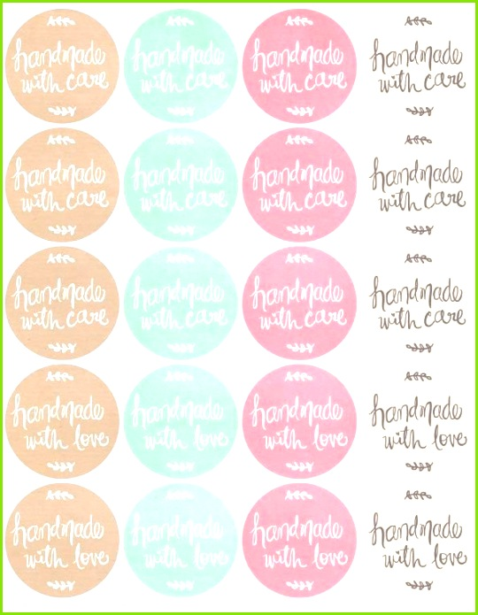 Free Printables HandDrawn labels for Handmade goods