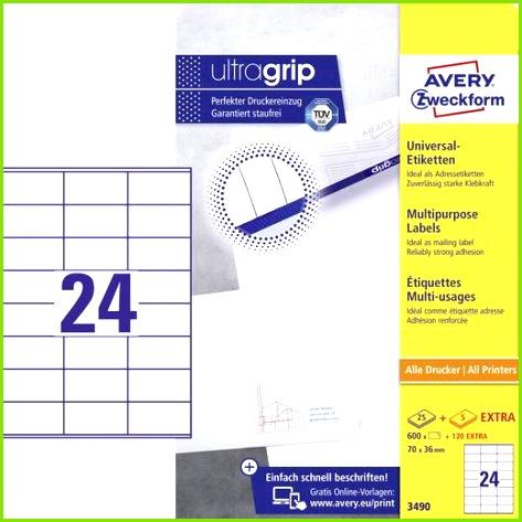Avery Zweckform 3490 Etiketten 70 x 36 mm Papier Weiß 720 St Permanent Universal Etiketten Tinte