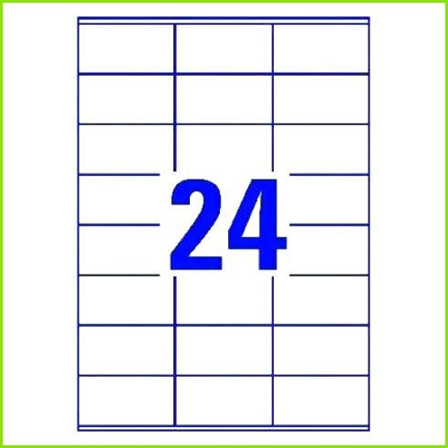 Multipurpose Labels 70 x 36 mm 24 per sheet