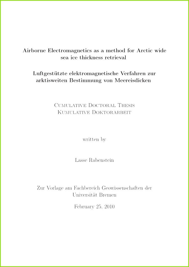 Ex Zurück Brief Vorlage Beschreibung Pdf Airborne Electromagnetics as A Method for Arctic Wide Sea Ice