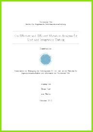 Ex Zurück Brief Vorlage Idee Effective and Efficient Mutation Analysis for Unit and