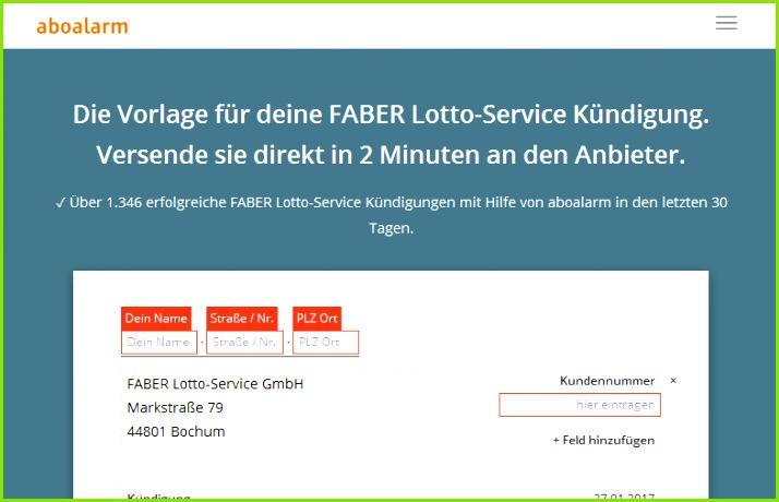 Faber Lotto Abzocke