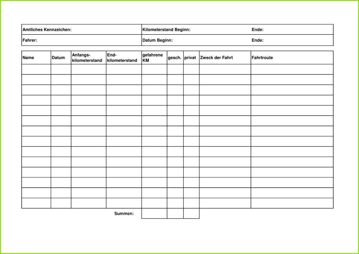 Download Fahrtenbuch Vorlage Excel with original resolution Here