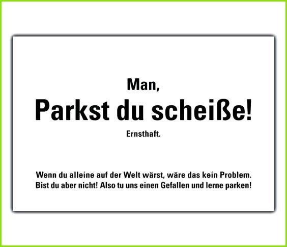 Falschparker Zettel Vorlage Großartig 50 Parkst Du Scheisse Karten Gegen Falschparker