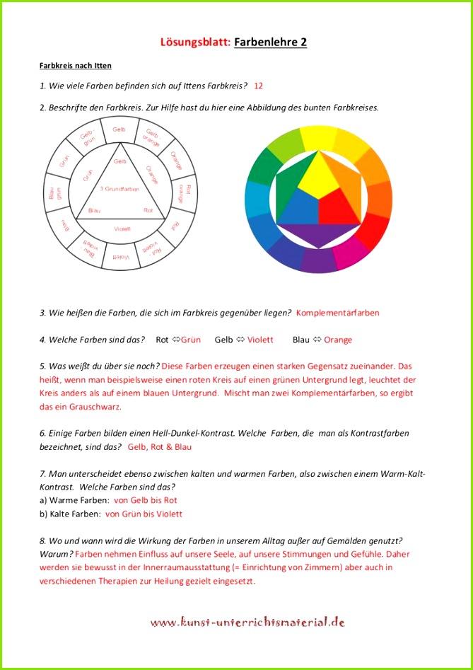 Farbenlehre Grundschule Kunstunterricht