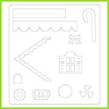 Fensterbild Transparentpapier Häuser 7 pdf Weihnachten Pinterest