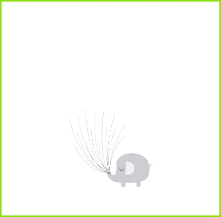 fingerabdruck baum vorlage schlicht elefant verträumt ballons halten