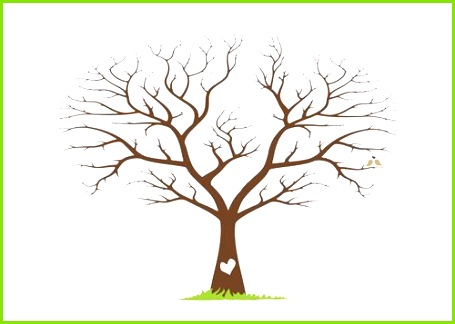 Berühmt Fingerabdruck Baum Vorlage Bilder Dokumentationsvorlage