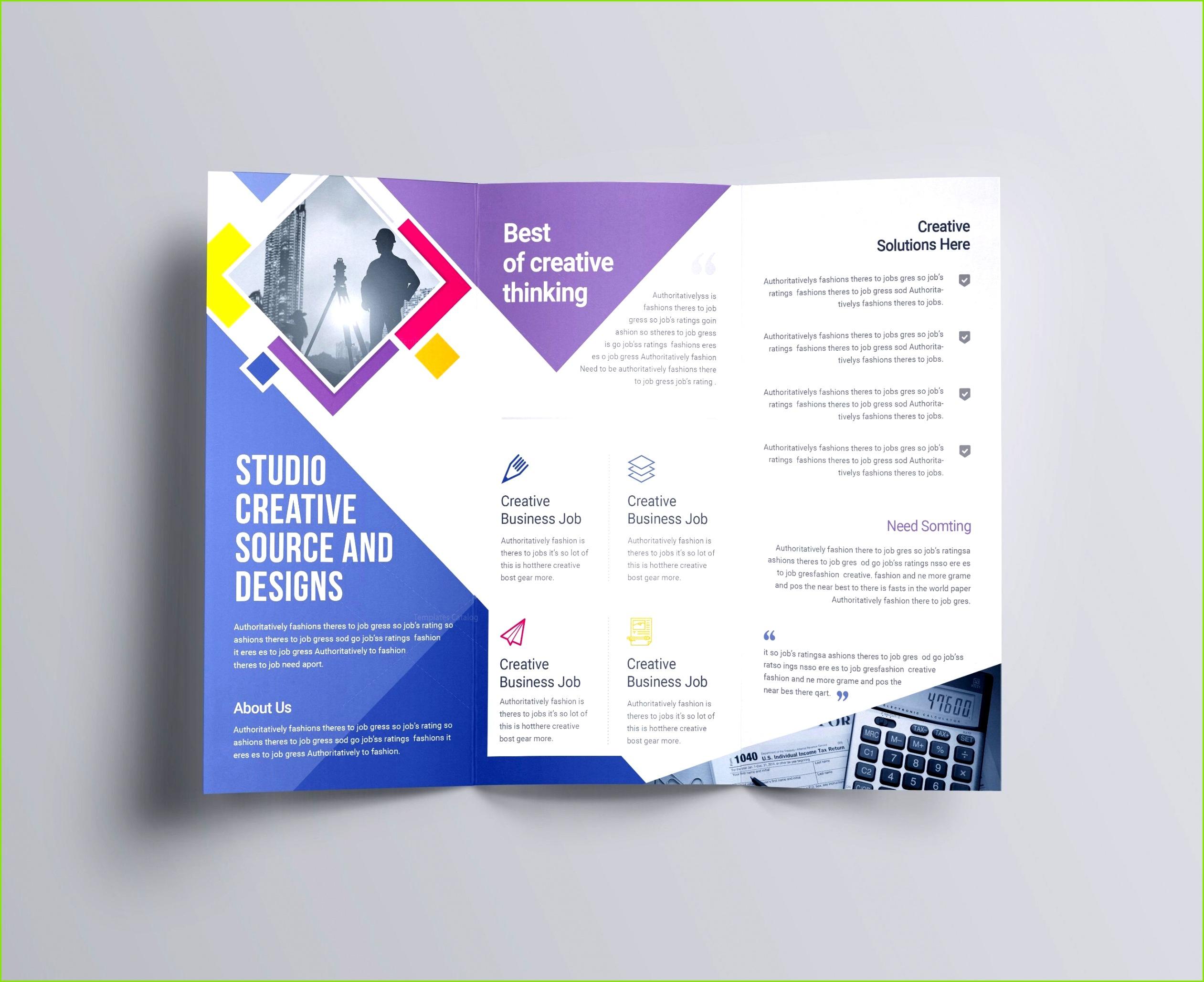 Tri Fold Menu Template shop New Creative Brochure Design Psd Unique Tri Fold Brochure Psd Template