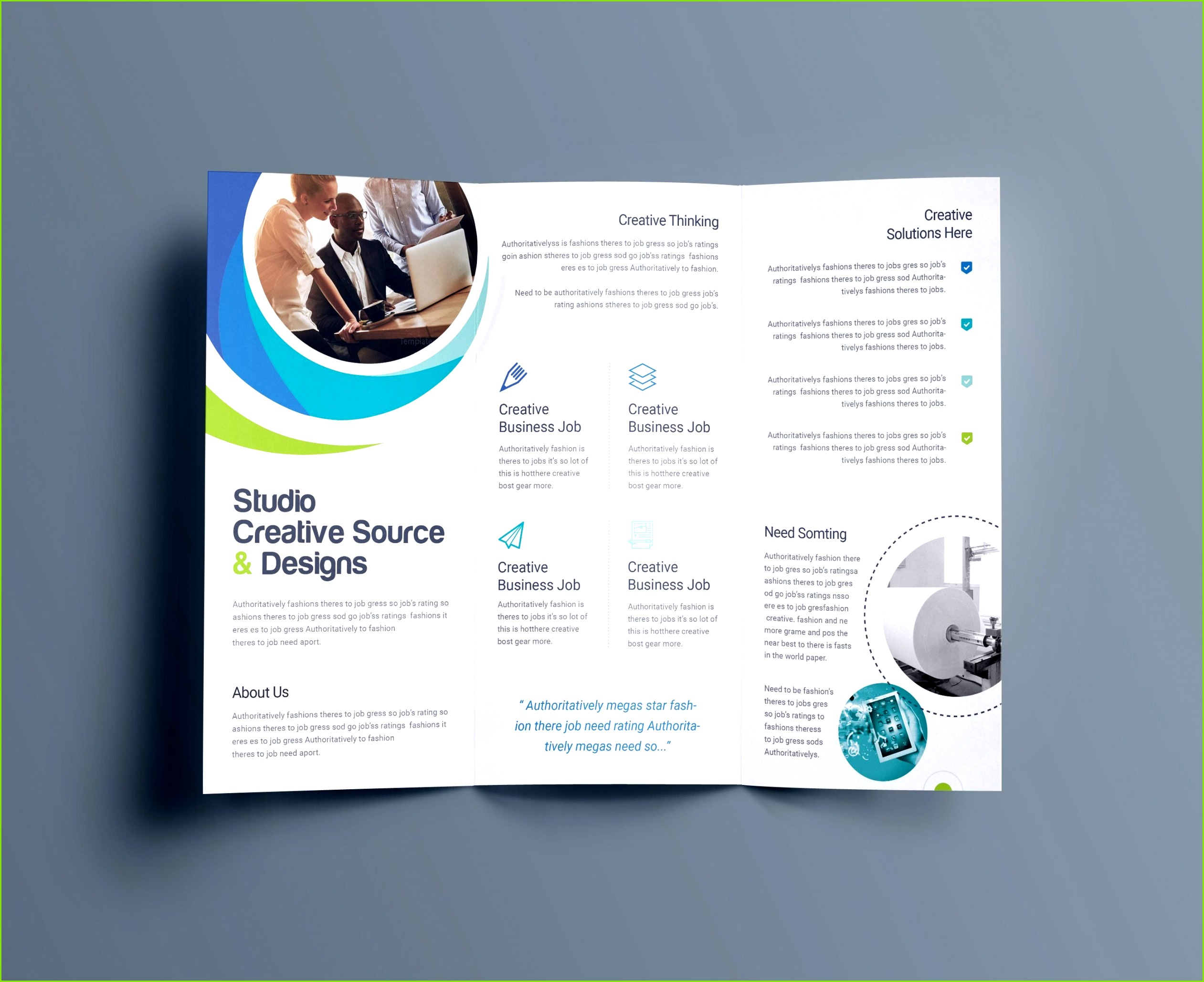Free Brochure Templates for shop Hypnosis Professional Tri Fold