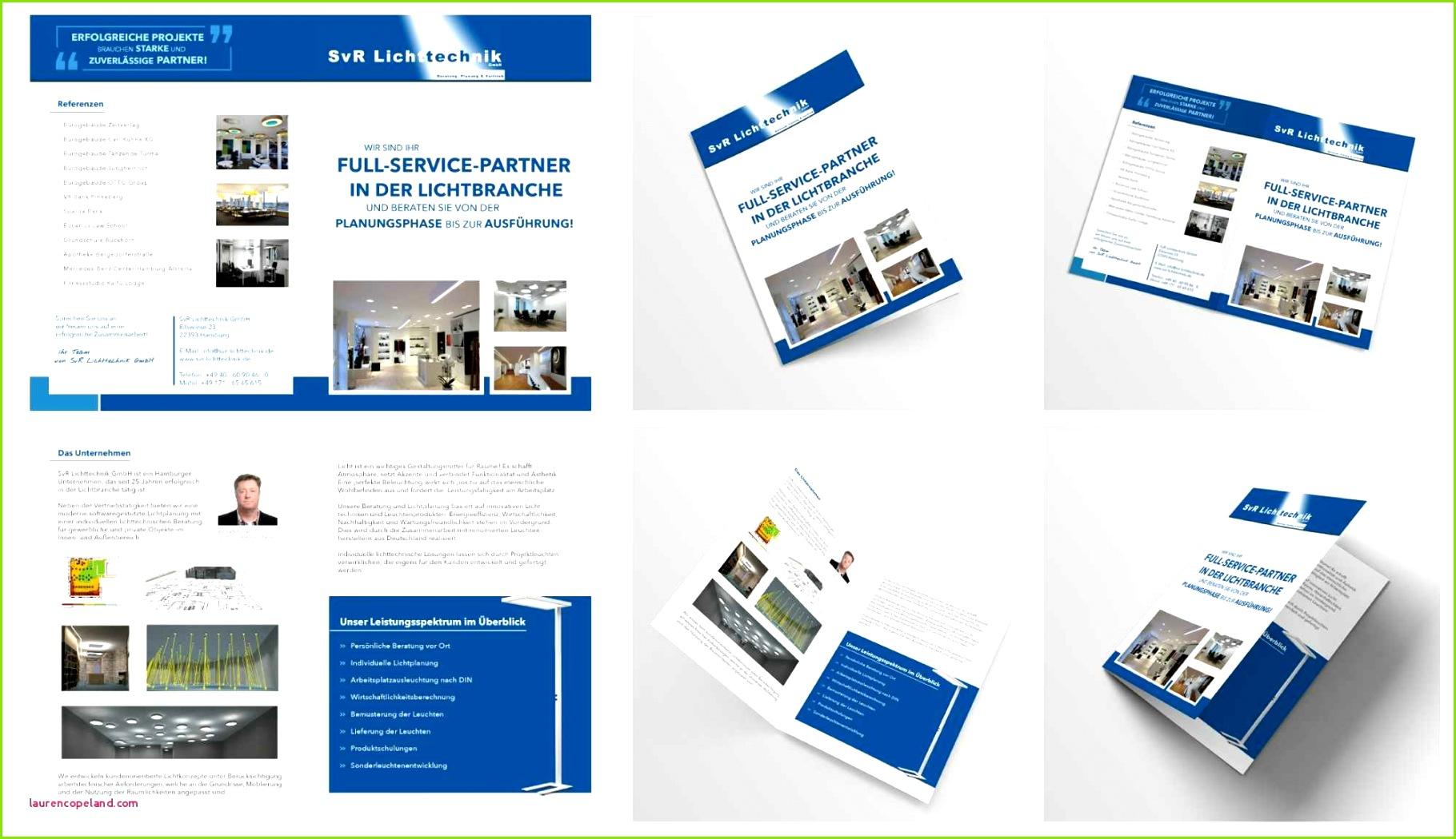 Flyer 6 Seitig Vorlage Imagebroschüre Für Ein Handelsunternehmen 4 Od Broschüre