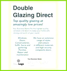 A6 Double Glazing Leaflets printing flyers designs windows Leaflet Printing Pad