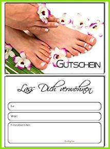 50 Gutscheine Geschenkgutschein Flowers Pediküre Fusspflege Nagelstudio Kosmetik