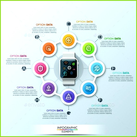 Smart Watch Infographic Cycle Design Template Can be used for workflow layout diagram number options step up options web desi
