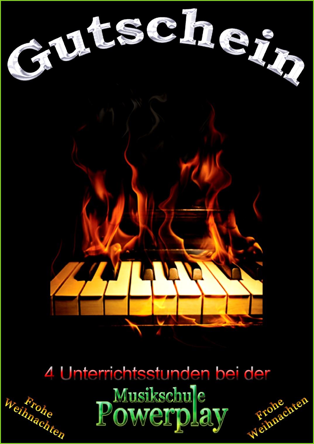Keyboard Klavier Unterricht Gutschein Gutschein Gitarre Unterricht