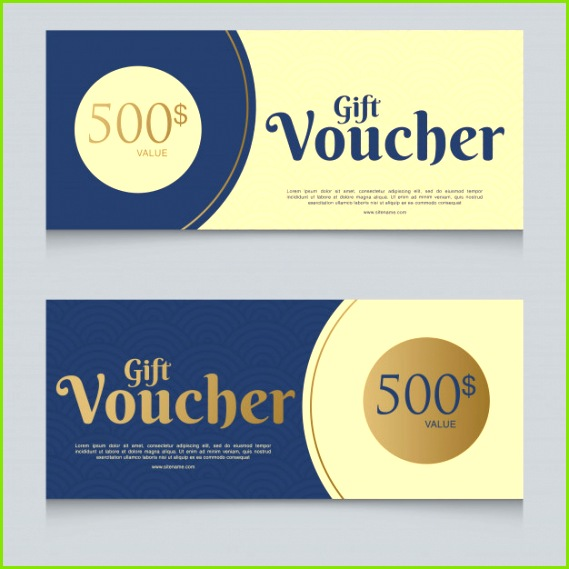 Voucher t certificate coupon template Premium Vector