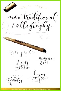 How to Create Non Traditional Calligraphy