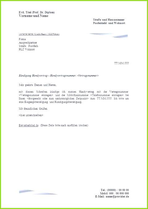 Inspirierende Kündigung Vertrag Vodafone Fotografie Schön Miete Einzahlungsbeleg Vorlage Zeitgenössisch Beispiel