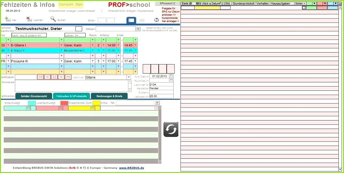 Vorlage Ideen Entry Haushaltsbuch Excel Kostenlos Prof M School 6 0d Musikschulverwaltung Musikschulsoftware