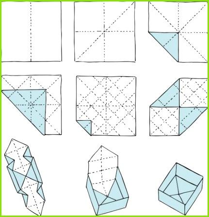 Origami Box Schachtel falten
