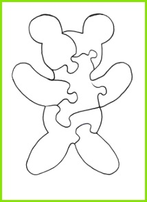 Teddy Bear Puzzle Pattern