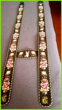 Trachten Hosenträger für Lederhose selbst gestickt sticken Werdenfelser Werdenfelserhosenträger