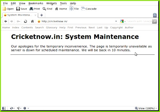Fig 01 Displaying a Custom Nginx Maintenance Page 503 Service Unavailable Page