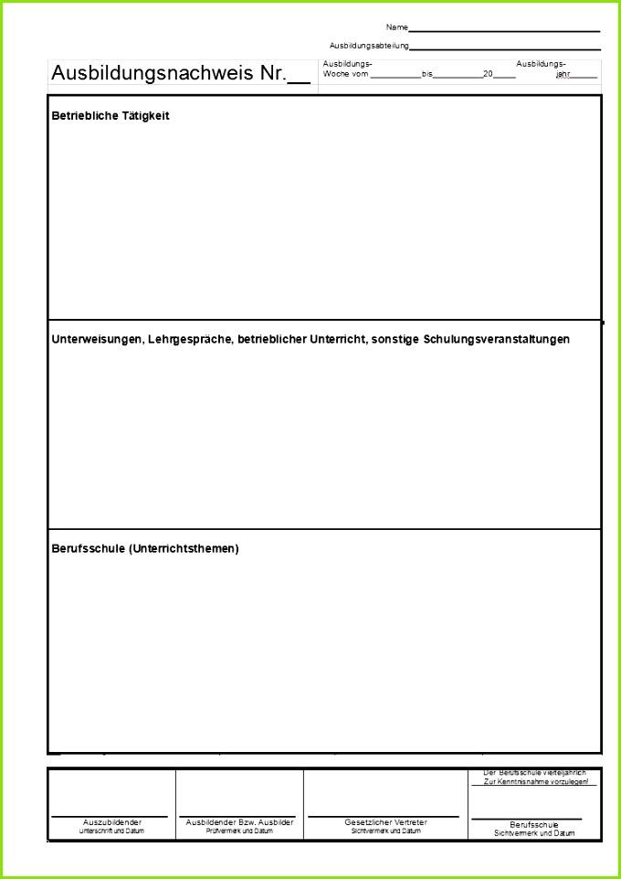 20 Berichtsheft Vorlage Ihk Baden Württemberg