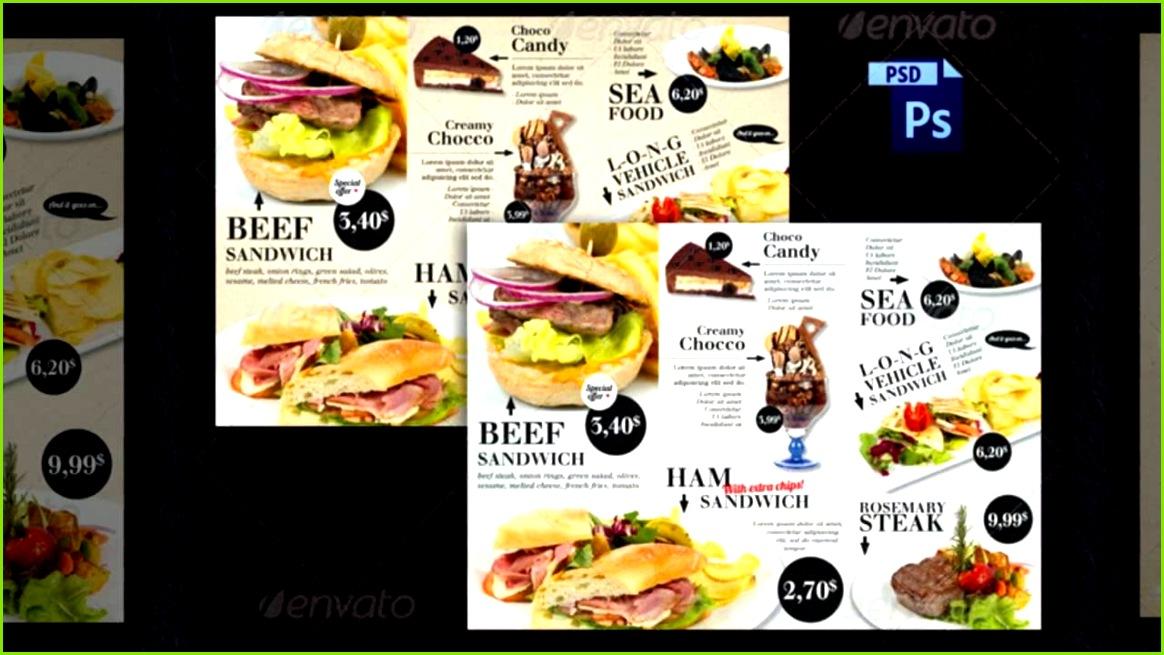 Imbiss Flyer Vorlagen Fastfood Flyer Werbung günstige Restaurantwerbung
