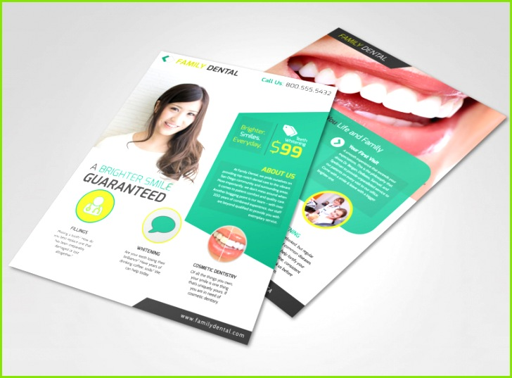 Brighter Smile Dental Teeth Whitening Flyer Template