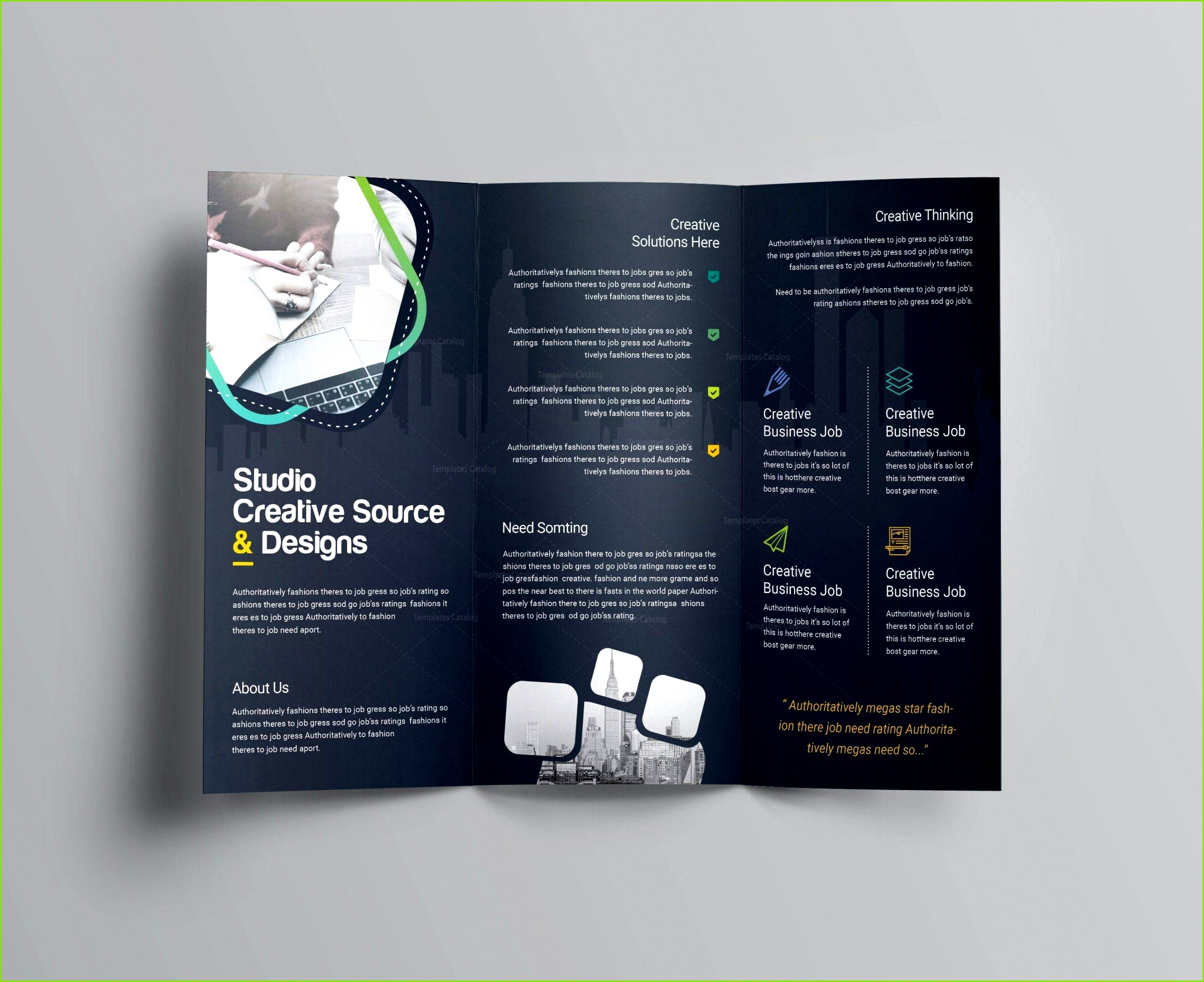Free Corporate Tri Fold Brochure Templates Running Flyer Template Idées Modeles Cv Open fice Gratuit