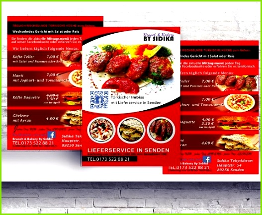 Flyer Restaurant Imbiss Hamburger Flyers