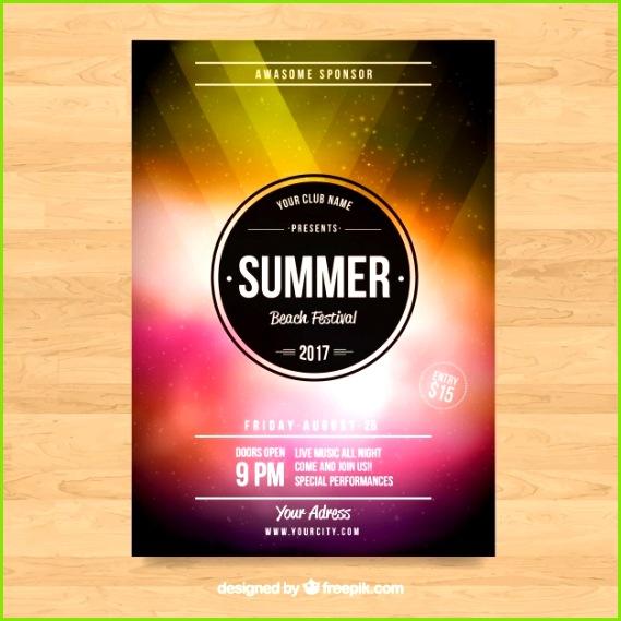 Sponsorship Flyer Template Music Flyer Templates Flyer Template Free format Poster Templates 0d