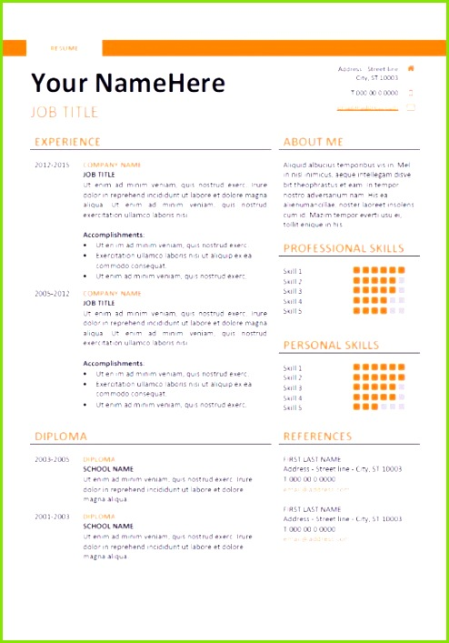 Resume Template Microsoft Word Elegant Resume 52 New Cv Templates Hi Res Wallpaper Cv Templates 0d