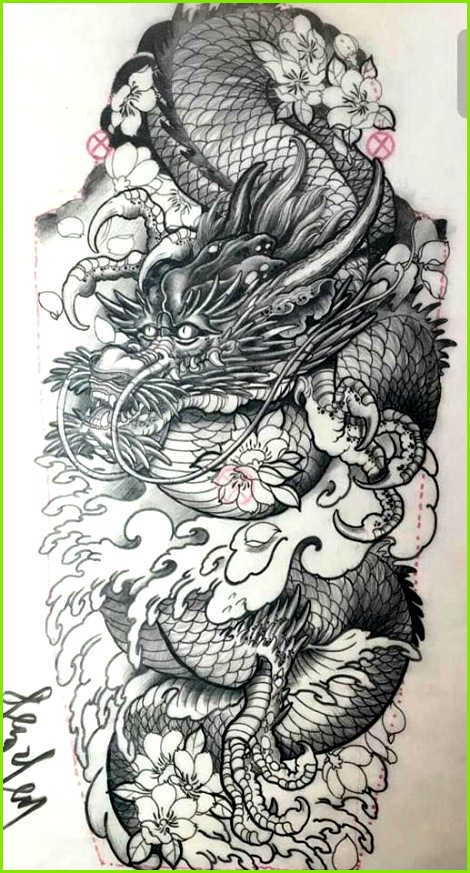 Japanische Tattoo Ideen Japanische Drachen Tattoos Tattoo Skizzen Totenkopf Tattoo Oberarm Tattoo