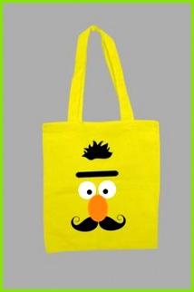 Jutebeutel Bert Druck tote bag with print via DaWanda