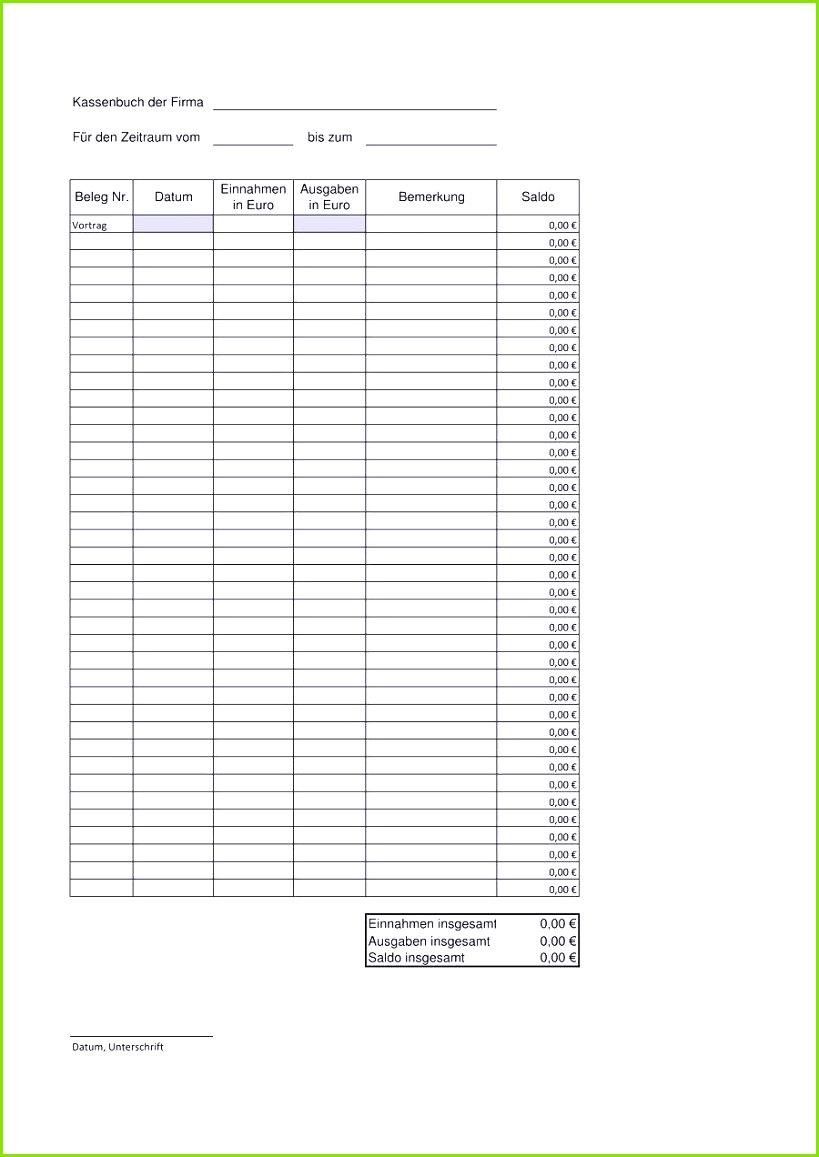 Das Beste Von Kassenbuch Vorlage Pdf — Omnomgno Erstaunlich Excel Tabelle Einnahmen Ausgaben Vorlage