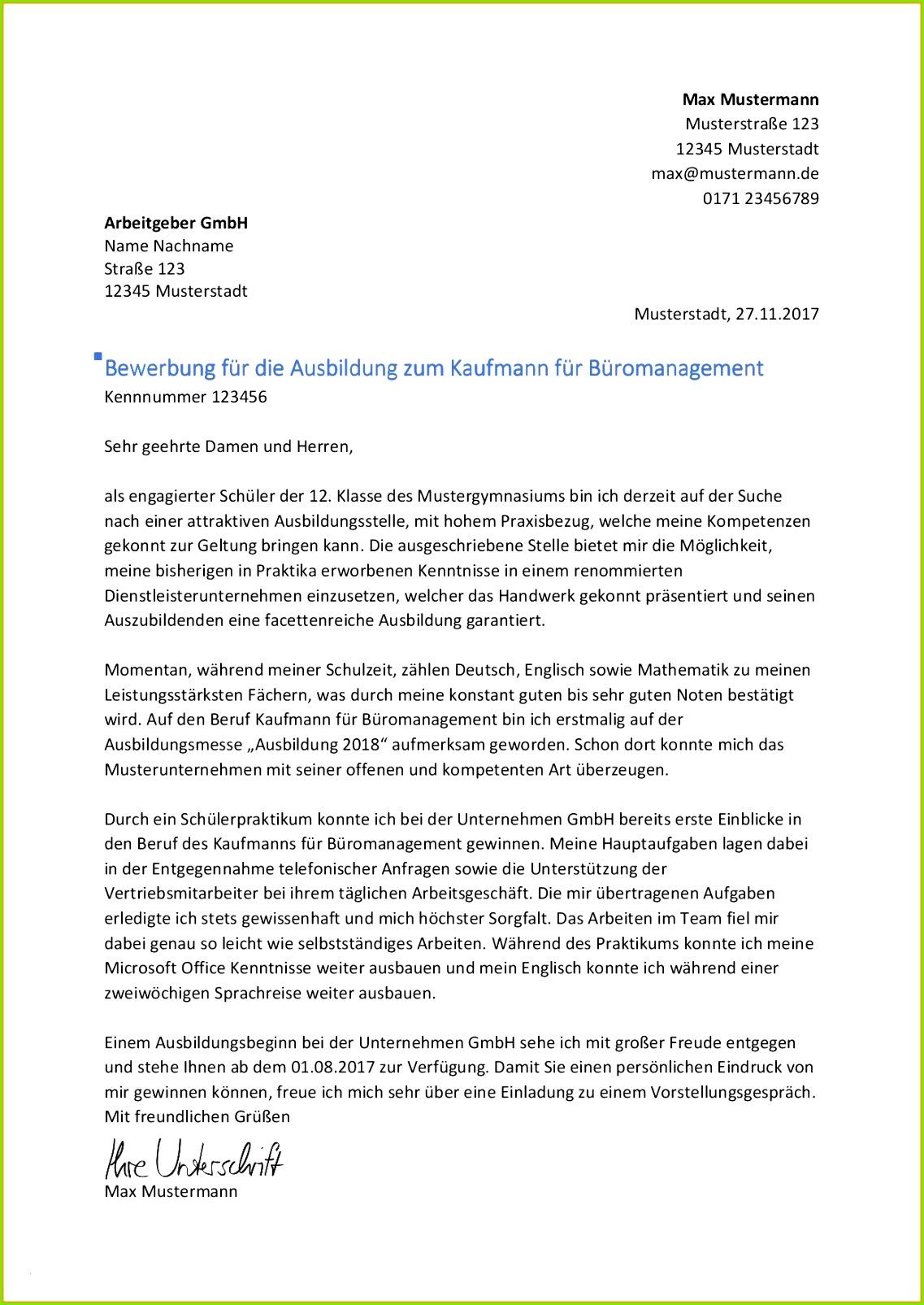 Bewerbung Kauffrau Büromanagement Muster Schön 8 Ausbildung Luxus Bewerbung Kauffrau Im Gesundheitswesen Muster