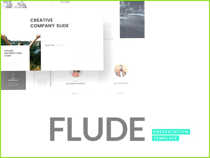 FLUDE Keynote Template presentation proposal presentation template clean presentation clean keynote design professional elegant branding templates