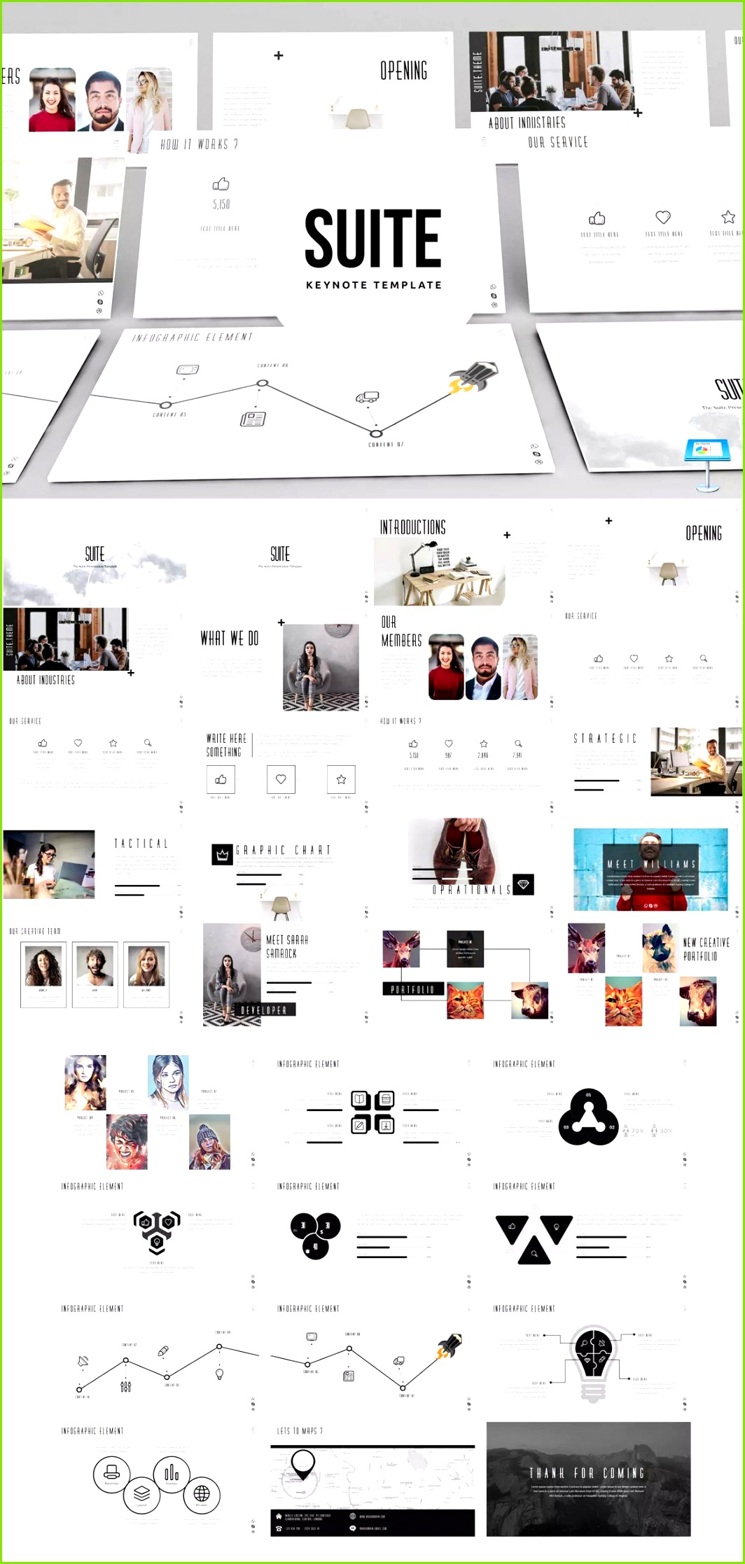 Suite Keynote Presentation Template unlimited s