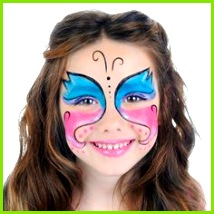 Schmetterling schminken – Einfache Anleitung Bilder und Vorlagen