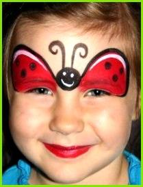 Erfahren Sie in ser Schminkanleitung wie Sie in wenigen Schritten einen Marienkäfer schminken sei es zum