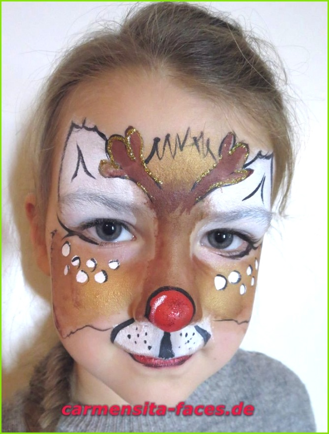 Bildergebnis für rentier kinderschminken Kinderschminken Vorlagen