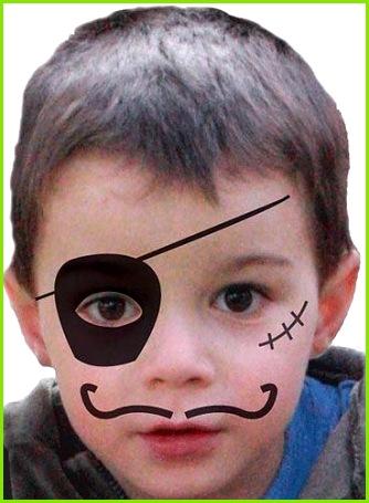 Kinder schminken Pirat Kinderschminken Einfache Vorlagen für Karneval – Kinderschminken Vorlagen Zum Ausdrucken