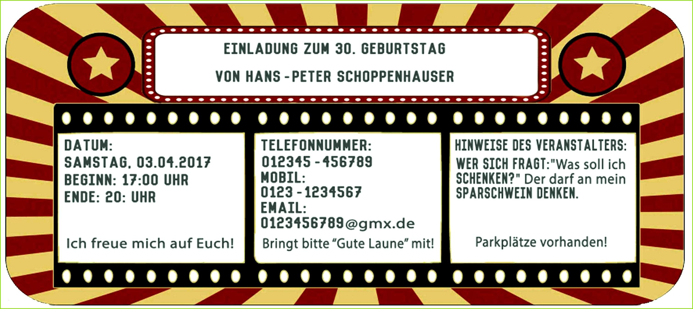 Kinokarte Vorlage Zum Ausdrucken Herunterladbare Einladungskarten Ticket Stilvoll Save the Date Karten Geburtstag Editierbar Kinokarte