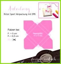 Anleitung Verpackung Stampin Up Ritter Sport Couvert Falten Diy Schachteln Geschenkbox Basteln Bastelei