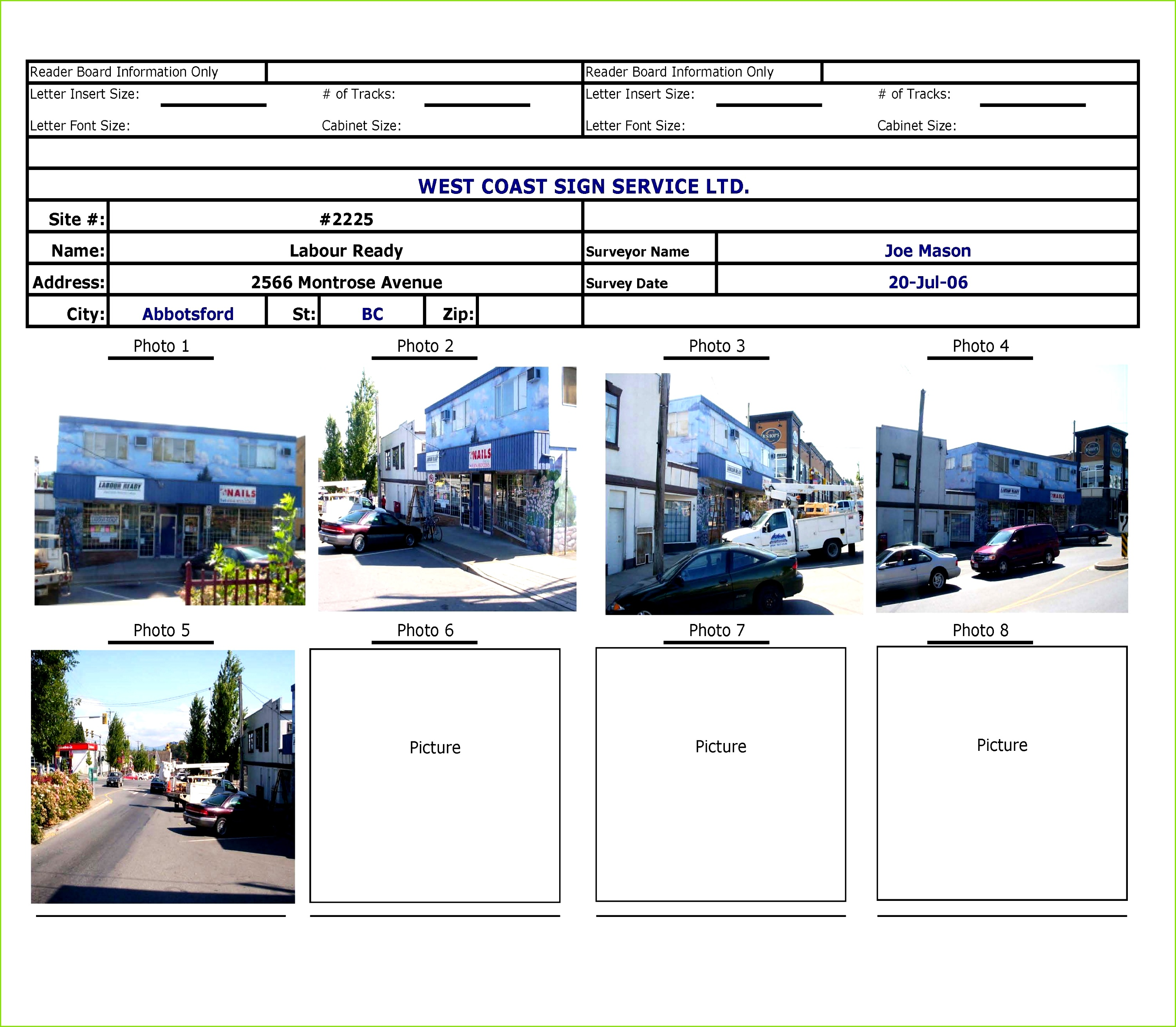 Site Survey Template